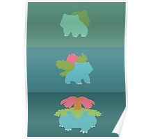 Bulbasaur's Evolutions Poster Poster