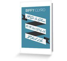 Biffy Clyro - Black Chandelier  Greeting Card