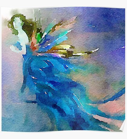 Fairy,water color,hand painted,modern,trendy,contemporary art Poster