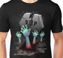 Zombie Hands on Cemetery Unisex T-Shirt