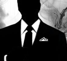 Smokey Silhouette Man Sticker