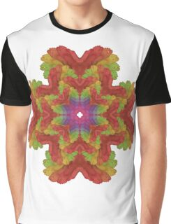 Crazy Rainbow Feet Graphic T-Shirt