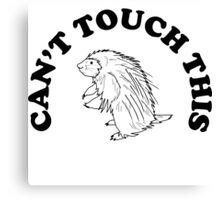 Can't Touch This - Porcupine Canvas Print