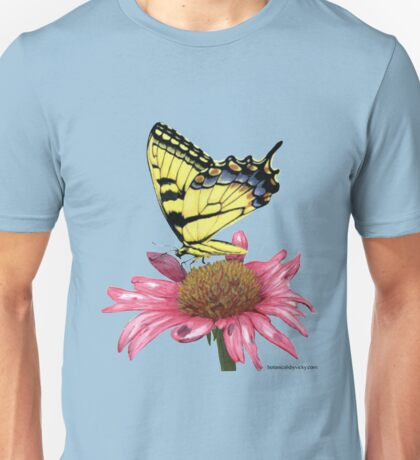 Swallowtail and Coneflower Unisex T-Shirt
