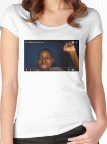 Longest Yeah Boy Women's Fitted Scoop T-Shirt