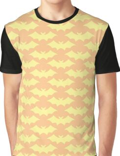 Batty! Orange Print Graphic T-Shirt