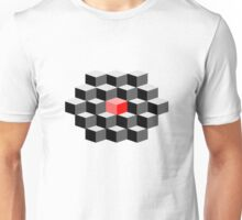Red cube abstract - 'think differently' Unisex T-Shirt