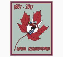 CYCLING CANADA; Sesquicentennial Celebration Print Kids Tee