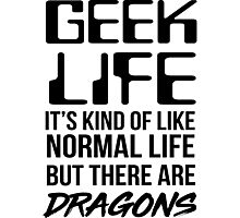 Geek life. it's kind of like normal life but there are dragons Photographic Print