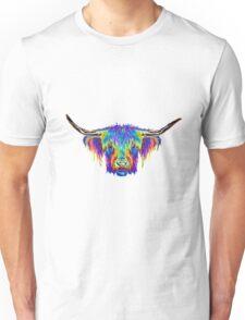colourful Bull image. Unisex T-Shirt