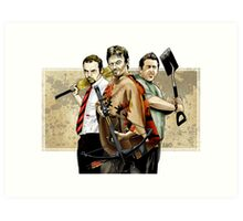 Zombie dream team Art Print