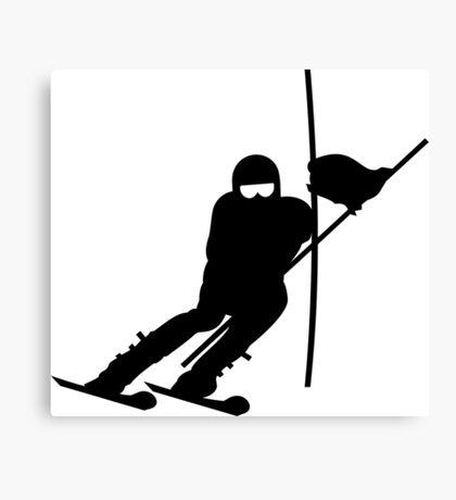 Slalom Skiing VRS2 Canvas Print