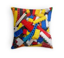 Lots of LEGO Blocks / Bricks Throw Pillow