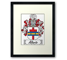 Alberto Coat of Arms (Italian) Framed Print