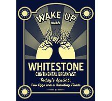 Whitestone's Continental Breakfast Photographic Print