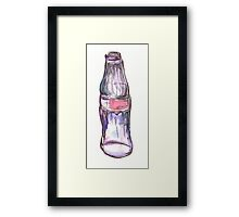 Colored Glass Bottle Framed Print
