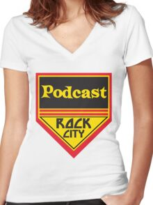 Podcast ROCK CITY Podcast! Women's Fitted V-Neck T-Shirt