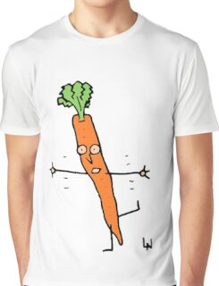 Happy Carrot Graphic T-Shirt