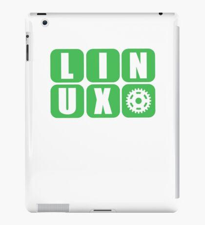 Linux Grid Design Gear I iPad Case/Skin