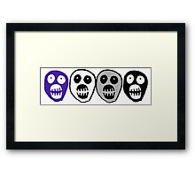Ace colours Boosh heads Framed Print