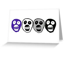 Ace colours Boosh heads Greeting Card