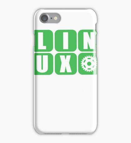Linux Grid Design Gear I iPhone Case/Skin