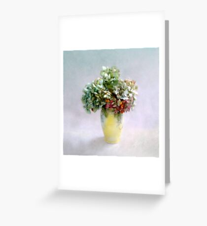 Hydrangea Blooms in Late Summer Greeting Card