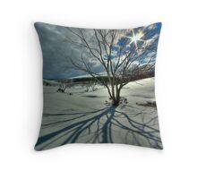 Burnt snowgums, Bogong High Plains Throw Pillow