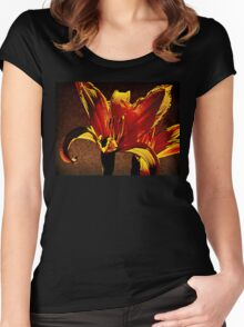 Pair Of Parapsychological Perennials Women's Fitted Scoop T-Shirt