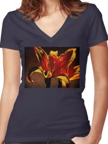 Pair Of Parapsychological Perennials Women's Fitted V-Neck T-Shirt