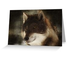 Steampunk wolf Greeting Card