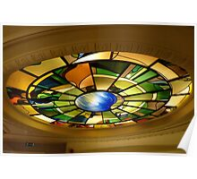 Glass dome of an hotel staircase Poster