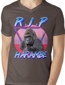 Harambe Vintage T-Shirt Mens V-Neck T-Shirt