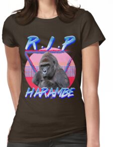 Harambe Vintage T-Shirt Womens Fitted T-Shirt