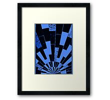 Black and Blues, bricks pattern Framed Print