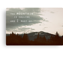 Muir: Mountain Canvas Print