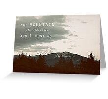 Muir: Mountain Greeting Card