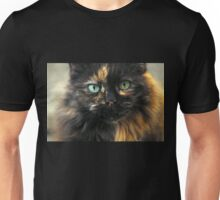 Portrait of a Blue Eyed Cat. Unisex T-Shirt