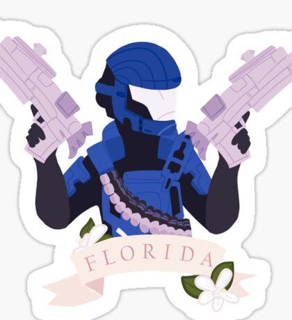 Red vs Blue - Agent Florida Sticker