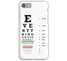 lie chart iPhone Case/Skin