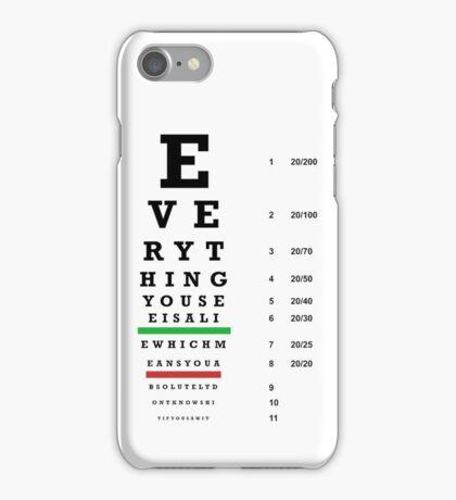 lie chart iPhone Case/Skin