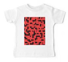 Line Art - The Bricks, tetris style, red and black Baby Tee