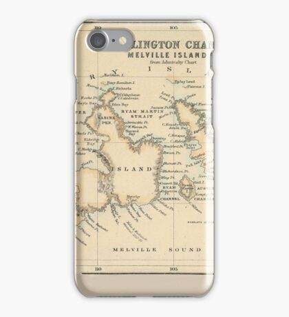 Map Of The Northwest Passage iPhone Case/Skin
