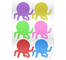 Colourful Octopus! Poster
