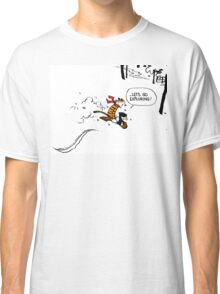 Calvin and Hobbes - Let's Go Exploring Classic T-Shirt
