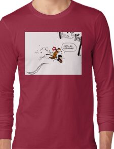 Calvin and Hobbes - Let's Go Exploring Long Sleeve T-Shirt
