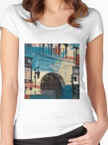 Hamm Building Collage Women's Fitted Scoop T-Shirt