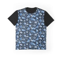 blue and floral  Graphic T-Shirt