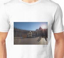 Saint Peter's Forecourt and the Mushroom Fountain, Rome Unisex T-Shirt