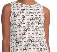 Knit Pattern Contrast Tank